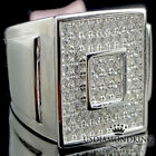 MEN'S NEW REAL STERLING SILVER 10K WHITE GOLD OVERLAY PINKY RING BAND SIZE 9~11