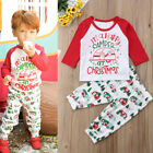 US Stock Toddler Baby Boys Girls Christmas Outfit Tops shirt