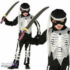 Child Boys Scary Skeleton Zombie Ninja Warrior Fun Halloween Fancy Dress Costume