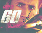 Nicolas Cage Autographed Gone In 60 Seconds 8x10 Photo AFTAL UACC RD COA