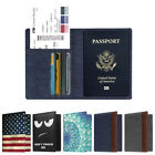 Внешний вид - Travel Passport Holder Wallet Holder RFID Blocking Vegan Leather Card Case Cover