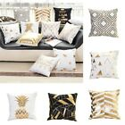 US Fashion Gold Letter Animal Cotton Throw Pillow Case Cushion Cover Home Decor