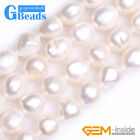 """11-12x12-14mm Freeform Freshwater Pearl Beads For Necklace Jewelry Making 15"""""""