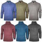 Mens Knit Jumper Long Sleeve Pullover Sweater New Stallion Chunky Sweatshirt