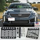 For 2016-Up Caillac CTS-V Front Bumper Tow Hook License Plate Relocator Bracket