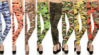 New Women's Camo Leggings Yoga Workout Peachskin Pants OS S - L L15