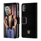 OFFICIAL WWE AMERICAN FLAG SUPERSTARS LEATHER BOOK CASE FOR APPLE iPHONE PHONES