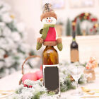 christmas wine bottle covers santa hat xmas tableware home decoration party STDE