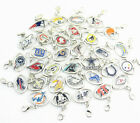 NFL Football Sports Team Pendant Dangle Charms Clasp Necklace Bracelet lot