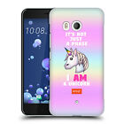OFFICIAL emoji® PASTEL UNICORNS HARD BACK CASE FOR HTC PHONES 1