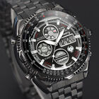 INFANTRY MENS DIGITAL QUARTZ WRIST WATCH CHRONOGRAPH ARMY SPORT STAINLESS STEEL image