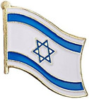 Backwoods Barnaby Istael Flag Metal Lapel Pin with Gold Clasp Israeli broach, x