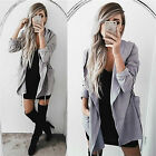 Women Hooded Long Coat Jacket Trench Windbreaker Parka Outwear Top S-5XL GIFT