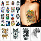 Cool Wolf Tiger Waterproof Temporary Tattoo Stickers Beauty Arm Body Art Sticker