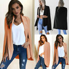 Womens Ladies Shawl Collared Open Placket Blazer Coat Cape T