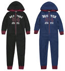 Boys 1Onesie1 Jumpsuit Pyjama New Kids Micro Fleece All In One Ages 7 - 13 Years
