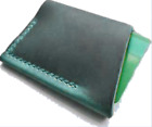 men women wallet purse cow Leather Bank credit card hold case bag handmade H001