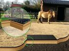 EQUINE MENAGE HORSE RIDING SCHOOL FEEDING STATION PADDOCK ARENA GROUND GRID (sm)