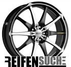 1x Dotz Shuriken black polished front 8x18   ET48 LK5 112 ML 70.1 Alufelgen 18...