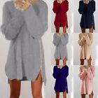 Fashion Womens Zipper Loose Long Sleeve Sweater Knitwear Pulloverer Coat HX