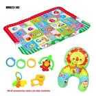 3D Nonwoven Soft Plush Toy Baby Activity Play Mat Infant Rattles and Pillow Set