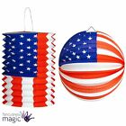 *American USA Stars And Stripes Hanging Balloon Paper Lantern Party Decoration*