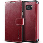 For Galaxy Note 5 Case VRS® [Layered Dandy] Slim Magnetic Leather Wallet Cover
