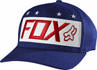 Fox Racing Mens Indigo Blue/Red/White Red White and True Flexfit Hat Cap