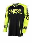 O'Neal Black/Hi-Viz Yellow Maythem Lite Blocker Mens Dirt Bike Jersey 2017 ATV
