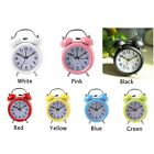 Digital Clock Retro Table Watch Desk Round Double Bell Clock Home Decoration