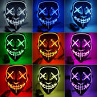 Kyпить Halloween Stitched Light Up Mask Purge Movie Flash LED Wire Scary Mask Party Hot на еВаy.соm