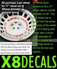 OZ racing Toms repair decal sticker to fit alloy rally wheel X8 set