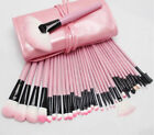 Pink Pro 32pcsCase Superior Soft Cosmetic Makeup Brushs Set Kit+ Pouch Bag Case