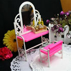 Kyпить Fashion Pink Bed Dressing Table & Chair Set For Barbies Dolls Bedroom Furniture на еВаy.соm