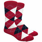 Fine Fit Men's Argyle Cotton Dress Socks Wedding Diamond Pattern Assorted Colors