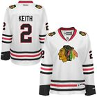 Reebok Duncan Keith Chicago Blackhawks Womens White Premier Player Jersey