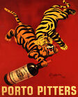 PORTO PITTERS PORTUGUESE WINE TWO TIGERS 8X10 VINTAGE POSTER REPRO FREE SHIPPING