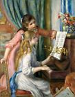 Young Girls at the Piano Painting by Auguste Renoir Art Reproduction