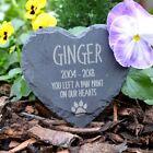 Memorial Plaque For Pet Cat - Personalised Cats Grave Stone Heart Slate Marker