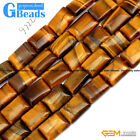 """Natural Stone Tiger's Eye Rectangle Beads For Jewelry Making Free Shipping 15"""""""