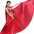 US Egyptian Egypt Belly Dance Costume Shining Isis Wings Dance Wear Solid Color