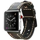 For iWatch Apple Watch Series 4 44mm 2018 Watch Band Genuine Leather Wrist Strap image
