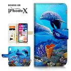( For iPhone XS MAX ) Wallet Case Cover P21089 Dolphin