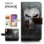 ( For iPhone XS MAX ) Wallet Case Cover P21395 Horror Skull