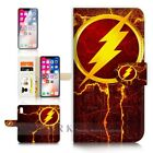 ( For iPhone XS MAX ) Wallet Case Cover P31074 Flash Superhero