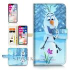 ( For iPhone XR ) Wallet Case Cover P31062 Olaf Frozen