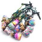 Mini Polymer Clay Glass Essential Oil Bottles Mobile Phone Chain Wholesale Lots