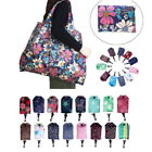 Womens Folding Reusable Floral Storage Bag Grocery Tote Waterproof Shopping Bag