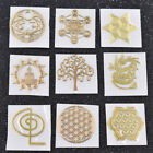 5pcs Geometry Orgonite Cropper Stickers Energy Tower Material Phone Table Decor