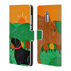 STEPHEN HUNECK DOG'S FRIENDS LEATHER BOOK WALLET CASE FOR MICROSOFT NOKIA PHONES